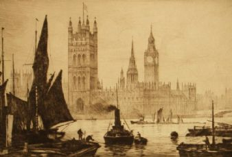 Ernest Hampshire; The Thames,London
